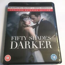 Fifty Shades Darker 2017 4K UHD Blu-Ray Disc ONLY Film Extended Movie Christian