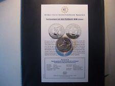 10 Euro Silber-Gedenkmünze Spanien Fußball WM 2002- Polierte Platte Zertifikat