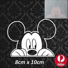 Mickey Mouse Peeking Minnie Disney Car Vehicle Sticker Decal Vinyl White Baby