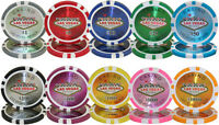 NEW 50 PC 2 Rolls Las Vegas 14 Gram Clay Poker Chips Select Your Denominations