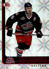 2001-02 Pacific Heads Up Red #28 Geoff Sanderson Card /165