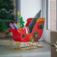 Weihnachten Metall Schlitten Santa Figur Dekoration Ornament Hause Neuheit Weihnachtsgeschenk