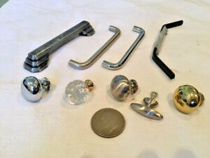 Antiques, Architectural Salvage, Lot of 10, hardware, Handles & Pulls, post 1950