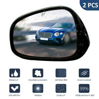 For Car Auto 2Pcs Waterproof Anti Fog Coating Rear View Mirror Protective Film