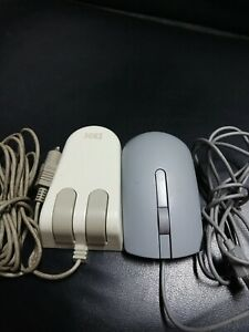 LOT OF 2 IBM PS1 PS/2 System TWO-BUTTON TRACKBALL & VINTAG DELL ULTRA RARE MOUSE