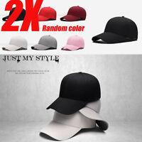 Unisex  Sticker Plain Baseball Cap Solid Blank Curved Visor Hat Adjustable Solid