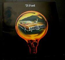 '71 FORD Original 1971 Dealer Sales Brochure GALAXIE 500 Brougham LTD Custom EX