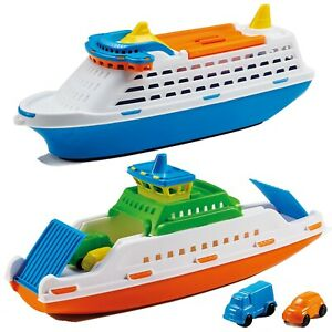 Kids Play Car Ferry Cruise Toy Boat Wheels Outdoor Garden Pool Beach Bath Time