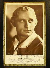 Samson Fainsilber acteur franco roumain autographe dédicace c1930 Romania actor