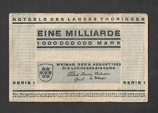 Hyperinflation bank note Weimar BAUHAUS Herbert Bayer 1923 Typography MILLIARDE