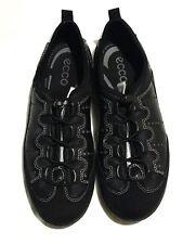 "Women's ECCO "" Toggle "" Black  Casual Leather Sneaker Sz. 36 EU /5-5.5 US"