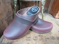 TOFFELN Leather Clogs EU 40 UK 6.5 Mules Slip On Made In Sweden Artisan Swedish