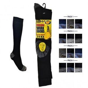 Mens Ultimate Long Work Boot Socks Cushion Sole Reinforced Toe in Size 6-11