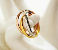 Anello Fede Fedine Coppia Paio 3 Anelli in uno Acciaio Donna Cuore Oro Argento