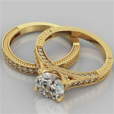 2.00 Ct VVS1 Diamond Engagement Ring Cushion 18K Yellow Gold Rings Size I J K L