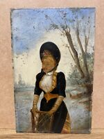 ANCIEN PORTRAIT MINIATURE, MARIETTE SULLY, ARTISTE LYRIQUE XIXEME,  ANNOTATIONS