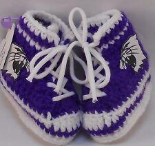 Custom Handmade Crochet Northwestern Wildcats Football High Tops Baby Booties