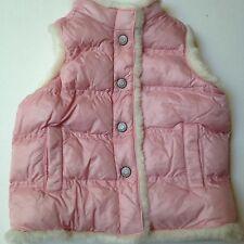 Old Navy Fleece Lined Girls Vest Size 3T~Snap Front Fur Lined