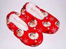 Elf on the Shelf Slipper Socks Christmas Toddler Kids S/M