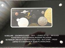 10 Dollars Salomonen Precious 7 in 1 Barren u.a. Gold Silber Platin Rotgold