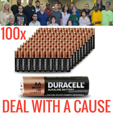 NEW 100 DURACELL COPPERTOP AA ALKALINE BATTERIES MN1500 TESTED BULK GUARANTEED