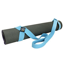 Fitness Mad Yoga Deluxe Belt & Mat Carry Strap Easy & Adjustable - Light Blue