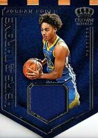 2019-20 Panini Crown Royale JORDAN POOLE Heirs To The Throne Rookie Patch