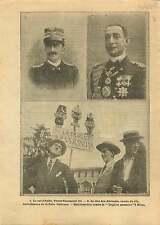 WWI Victor Emmanuel III of Italy/Prince Luigi Amedeo Abruzzi 1915 ILLUSTRATION