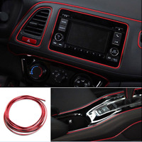 5M Red Point Edge Gap Line Car Interior Accessories Molding Garnish Decor Lights