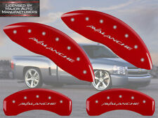 """2007-2013 Chevy """"Avalanche"""" Front + Rear Red MGP Brake Disc Caliper Covers"""