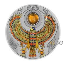 Niue 2017 $2 Silver coin Falcon of Tutankhamun Horus with Ambers 2oz. 999 silver