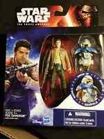 Star Wars The Force Awakens Armor Up POE DAMERON  Base 3.75 Figure Hasbro NEW