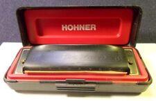 "HARMONICA HOHNER PRO HARP NOIR + NOTICE EN BOITE D'ORIGINE ""MADE IN GERMANY"""