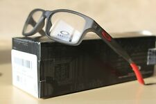 OAKLEY CROSSLINK XS (49) SATIN GREY SMOKE RED RX PRESCRIPTION EYEGLASSES FRAMES
