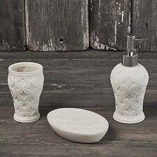 Henriette Linea Bagno set 3 pz porta sapone saponetta spazzolino porcellana