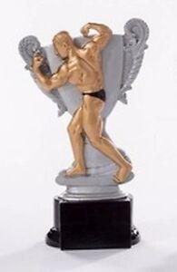 Bodybuilding-Pokal (Resin-Figur) mit Wunschgravur (39162)
