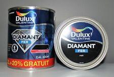 """Peinture Fer """"Noir"""" DULUX  VALENTINE 2,4 L"""