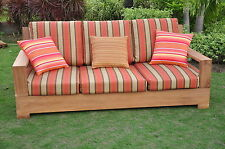 Leveb Grade-A Teak Wood Outdoor Garden Patio 3 seater Sofa Lounge Chair Set New