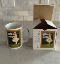 """Super Cute Mary Engelbreit Coffee Mug / Cup """"Lives.Get One"""" with Box"""
