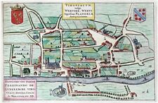 Reproduction plan ancien de Wervicq (Wervik) 1649