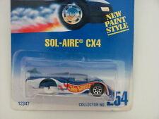 HOT WHEELS 1991 SOL-AIRE CX4 BLUE CARD 3 WHEELS ERROR