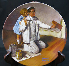 """Norman Rockwell Heritage #7 - """"The Painter"""" - Knowles Collector's Plate"""