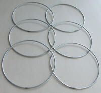 """6 x 3"""" Strong Metal Dreamcatcher/Macrame Craft Hoop/Ring & Free Waxed Cord"""