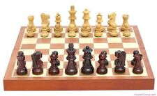 "PETITE ROSEWOOD CHESS SET, INLAID 11 5/8"" BOARD, K=2.5"" (391)"