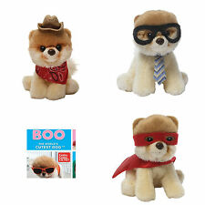 Gund Itty Bitty Boo The Dog 3 pack Gift Set Cowboy Nerdy & Superhero Soft Toy