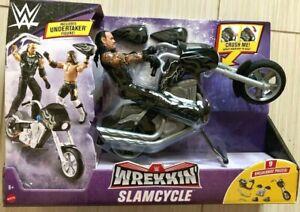 WWE Wrekkin' Slamcycle Vehicle With Undertaker Basic Action Figure NEW