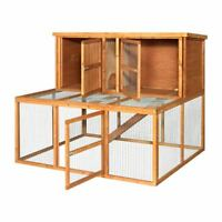 4ft Kendal Extra Large Rabbit Hutch Run Guinea Pig Pet House Garden Deluxe Cage