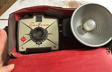 Vintage Sunbeam Galtex 60mm Lens 127 Color and B&W Camera Flash And Case