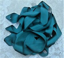 """100% Pure Silk Ribbon ~Teal~Color 5 Yards 1"""" [25Mm] Wide ~ Limited ~"""