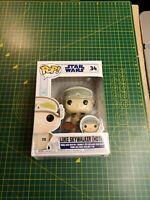 funko pop star wars luke skywalker (Hoth) With Pin #34 damaged box